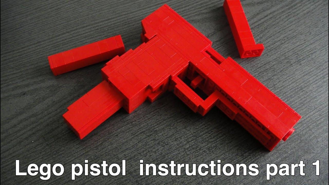 Lego pistol instructions part 1 of 2 youtube malvernweather Gallery