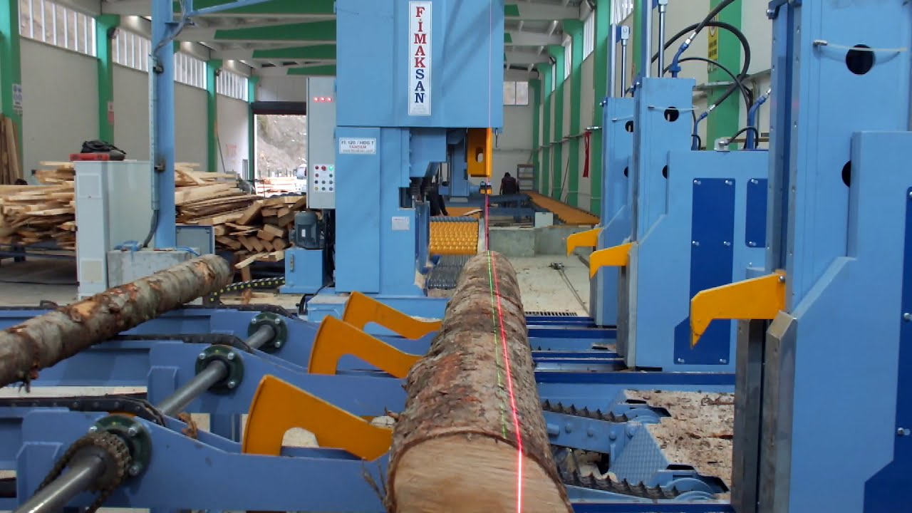 Automatic Carriage Linear Tandem Band Saw - Turkey.