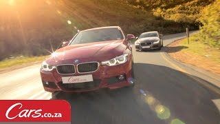 BMW 340i vs Jaguar XE S Driving and Interior Comparison