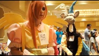 Discord and Fluttershy cosplayers at MLP Fair 2012
