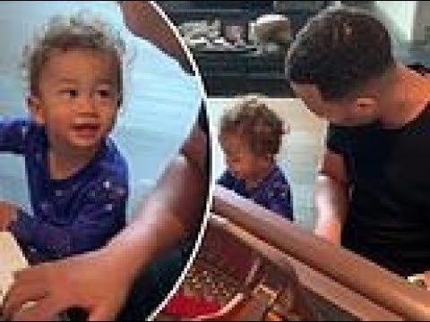 Bama, Rob & Heather - John Legend Teaches Son Miles to Play Piano--SO CUTE!!  **Sound up