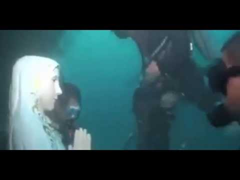 Virgen en el fondo del mar indico