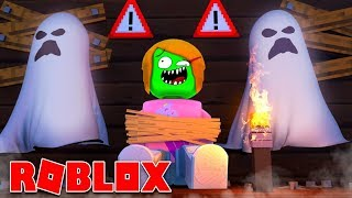 Roblox Role-play | I Got Stuck In A Haunted House With A Zombie!