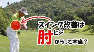 【ゴルフ】ひじの動かし方でゴルフが決まる【ゴルフライブ】