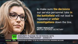Human rights groups lash out at UK defence secretary's pledge of immunity to vets
