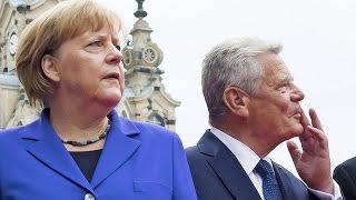 Dresden: Bundeskanzlerin Angela Merkel wurde mit den Rufen