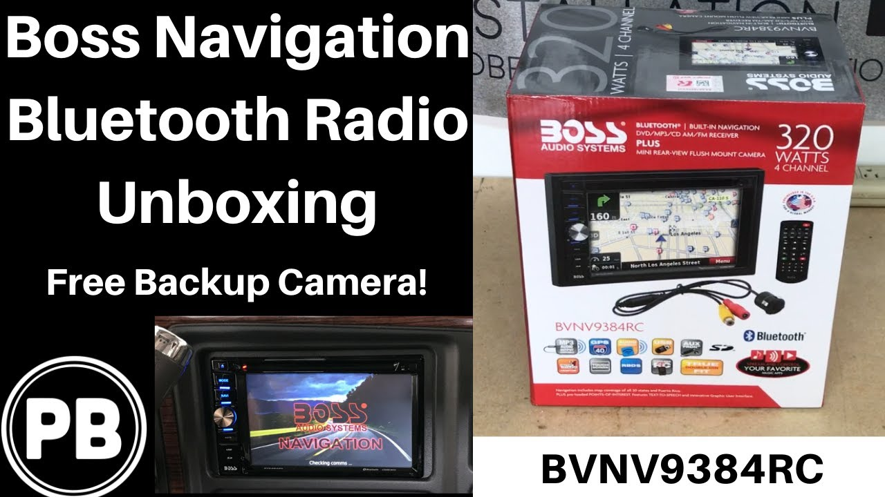 hight resolution of boss navigation bluetooth touch screen unboxing bvnv9384rc