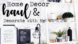 Home Decor Haul & Decorate With Me! || Homesense, B&BW & More!