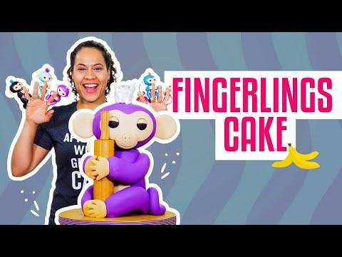 How To Make A MIA FINGERLINGS MONKEY Out Of Vanilla CAKE & Fondant | Yolanda Gampp | How To Cake It