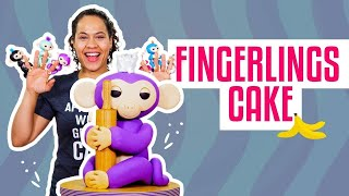 How To Make A MIA FINGERLINGS MONKEY Out Of Vanilla CAKE & Fondant | Yolanda Gampp | How To Cake It