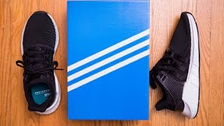 adidas equipment eqt support 93 17 milled leather review and on feet