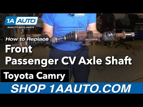 How to Replace Install Front Passenger CV Axle Shaft 02-09 Toyota Camry
