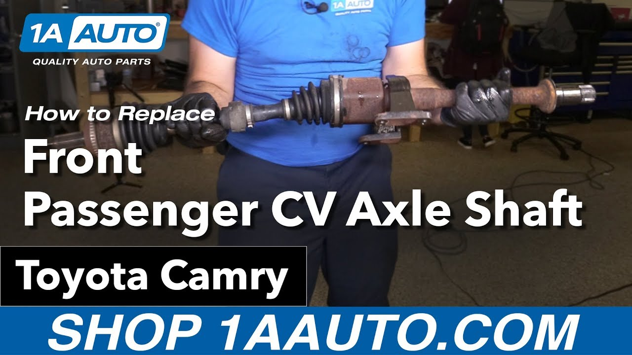 hight resolution of how to replace front passenger cv axle shaft 02 17 toyota camry