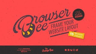Free BrowserBee V2 FX - frame your website layout - Photoshop plugin