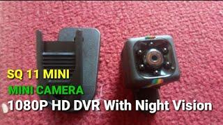 TEST SQ11 Mini Camera 1080P HD DVR With Night Vision
