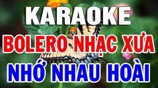 Karaoke Bolero Nhạc Vàng Trữ Tình Sến - Xưa Hay Nhất | LK Nhạc Sống Rumba Tội Tình | Trọng Hiếu