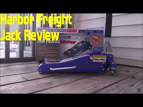 1 5 Ton Harbor Freight Pittsburgh Aluminum Jack Review Youtube