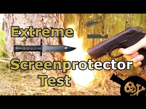 tempered-glass-extreme-screen-protector-test---shoot-,-acid-and-scratch-test---aukey-review-[hd]