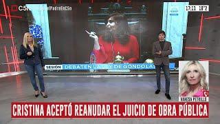 Cristina Kirchner aceptó reanudar el juicio sobre la obra pública de manera semipresencial