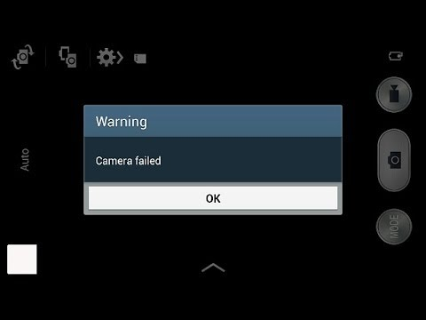 """How to fix """"camera failed"""" on Samsung Galaxy mini, note, S3, S4, S5"""