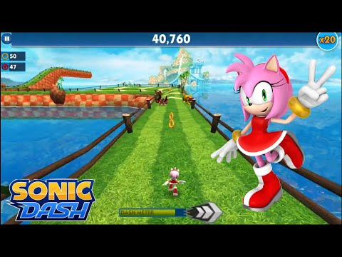 Sonic Dash (iOS) - Amy Gameplay