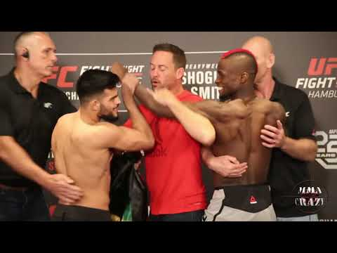 UFC Fight Night Hamburg Nasrat Haqparast vs. Marc Diakiese weigh in face off