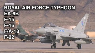Royal Air Force Typhoon, U.S. EA-6B, F-15, F-16, F/A-18, F-22 Operations