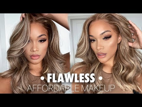 FLAWLESS DRUGSTORE MAKEUP ROUTINE/TUTORIAL   EASY AND AFFORDABLE   ALLYIAHSFACE