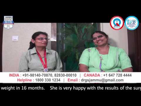 Housewife reduced 47kg weight after MGB Surgery at Jammu Hospital Jalandhar