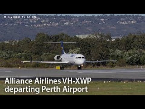 Alliance Airlines (VH-XWP) Fokker F100 departing Perth Airport on RW03.