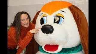 Большая игрушка для новогодних праздников Собака обзор
