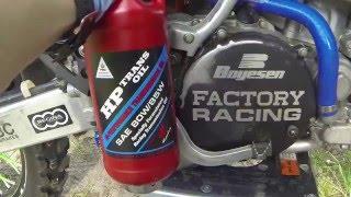 How to change gear oil in a 2 stroke dirtbike KX 250