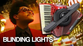Blinding Lights on Electric Skateboard & Accordion