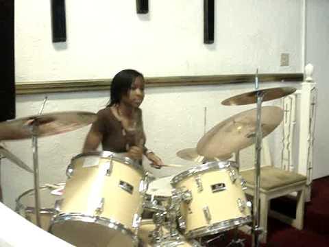 Bad girl drummer of group Generation