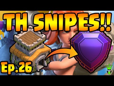 TOWN HALL SNIPES....THANKS! - TH8 Push to Legends - Clash of Clans - TH8 Push Episode 26