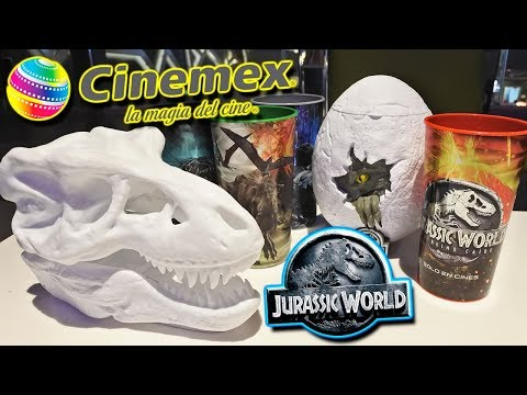 Jurassic World 2 Fallen Kingdom   Promocionales Cinemex, Palomera, Vasos y Nachera