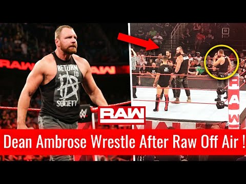 Dean Ambrose FIRST MATCH After Raw Off Air ! Dean Ambrose Returns Monday Night Raw 13 August 2018 !