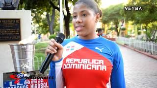 Antorcha Juegos Nacionales 2018 Recorrido Entrevistas  Neyba