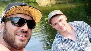 Учу Валеру ловить рыбу Рыбалка которая закончилась бухалкой Окунь голавль летом на малой реке
