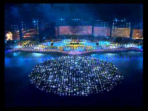 2010 Inner Mongolia Ordos Festival opening ceremony scenic and projection designed by Qi Wei