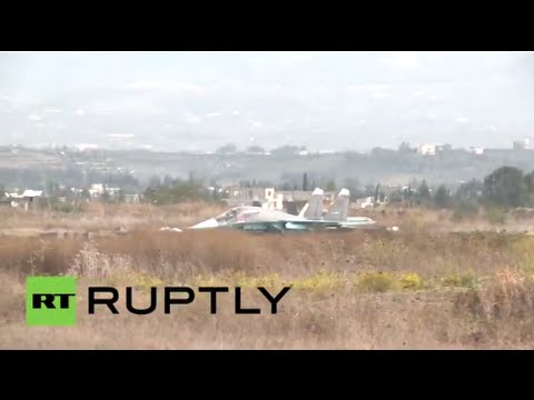 RAW: Russian jets take off on anti-terror sorties in Syria