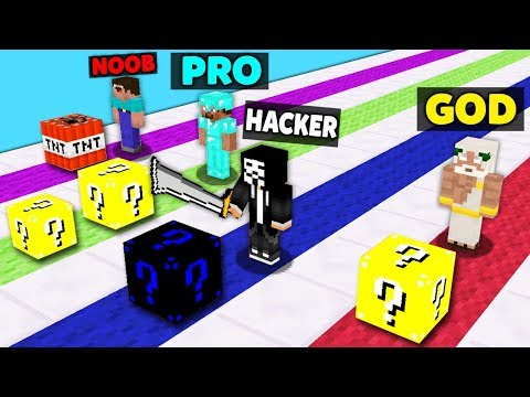 Minecraft Battle: NOOB vs PRO vs HACKER vs GOD : SUPER LUCKY BLOCK RACE Challenge in Minecraft thumbnail
