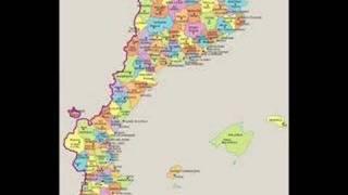 mapa comarcal Països Catalans