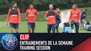TRAINING SESSION -  ENTRAINEMENTS DE LA SEMAINE with Kylian Mbappé & Layvin Kurzawa