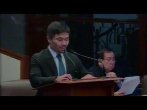 Manny Pacquiao's first privilege speech on death penalty (FULL VIDEO)