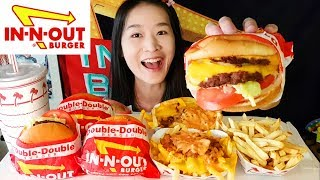 IN-N-OUT Burger Feast! Animal Style Fries, Double Double Cheeseburger | Mukbang w Asmr Eating Sounds