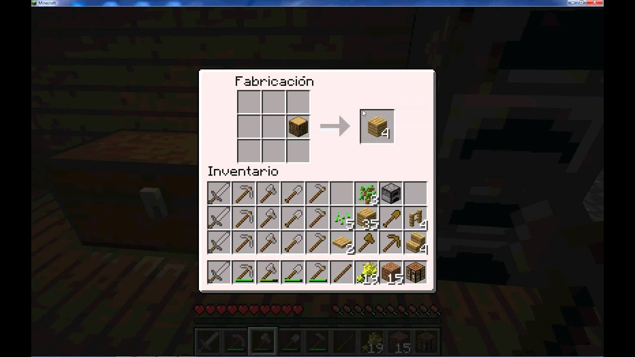 Minecraft hacer tablas de roble youtube - Tablones de roble ...