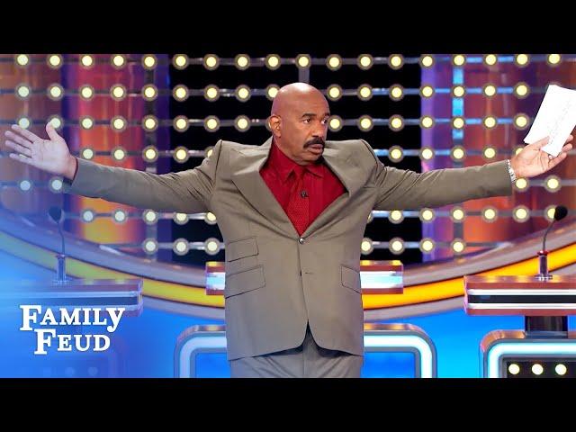 Got 'em! The board mocks Steve Harvey, then he gets revenge! | Family Feud