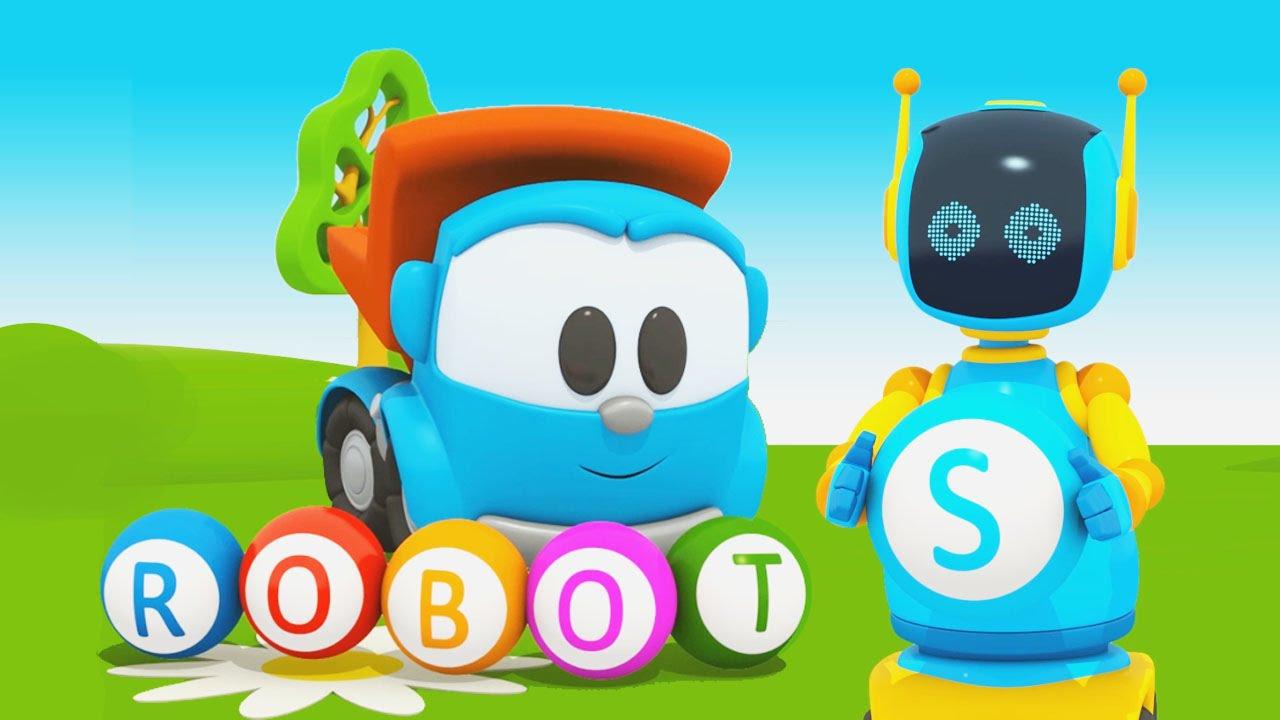 Cartoni animati per bambini leo junior alfabeto la