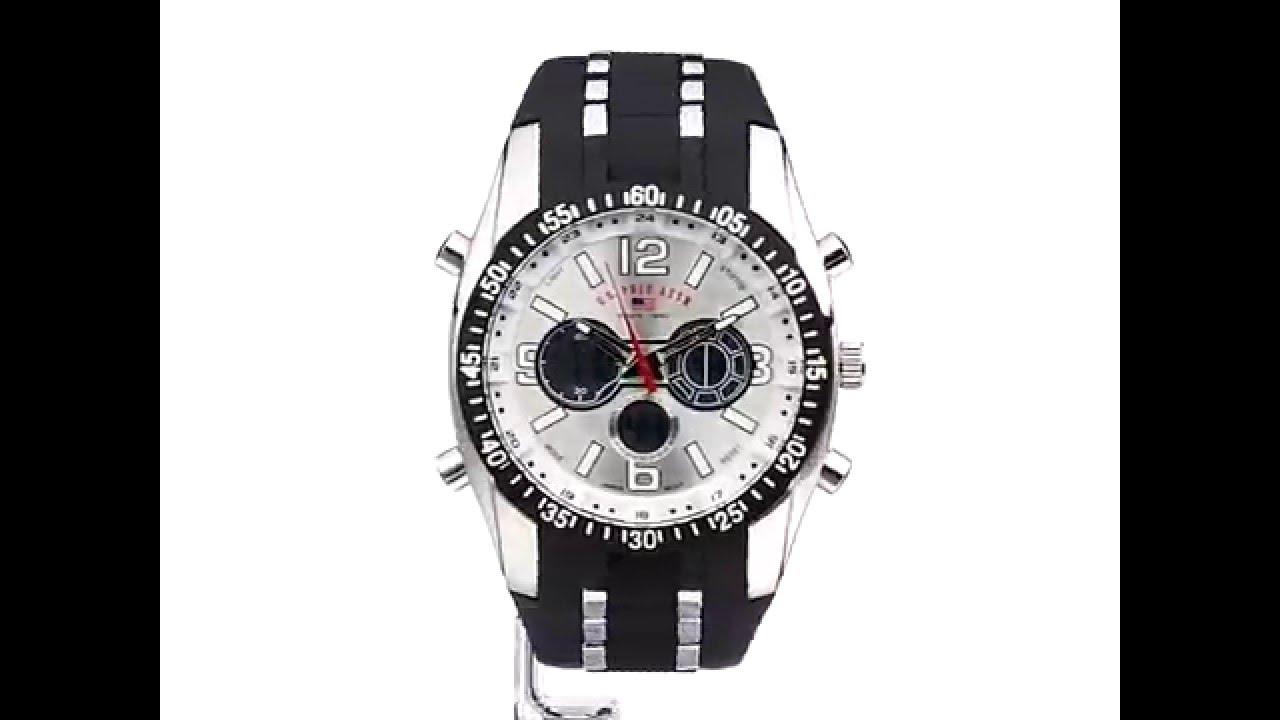 b9f9f3ee344 Relógio US Polo Assn Sport Pulseira Preta em Borracha Masculino ...